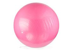 Pink Fitness ball Stock Images