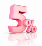 Pink Five Percent Stock Images