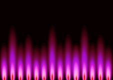 Pink Flames. An abstract background in landscape format, representing flame styled shapes in pink, set on a black base background Royalty Free Stock Images