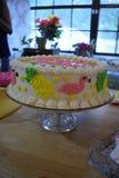 Pink Flamingo Cake stock images