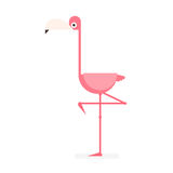 Pink flamingo cartoon vector illustration Stock Images