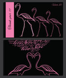 Pink flamingo on chalk board. Vector illustration of pink flamingo on chalk board. Template for desegn, logo Royalty Free Stock Images