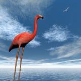 Pink flamingo - 3D render Stock Image