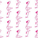 Pink flamingo seamless pattern Royalty Free Stock Images