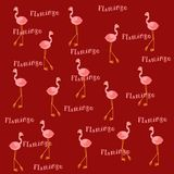 Pink flamingos on burnt sienna background royalty free stock photo