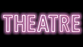 Pink Flashing Theatre Sign