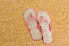 Pink flip flips Stock Images