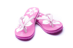 Pink Flip-flop. On isolated white background stock photography