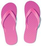 Pink flip flops Stock Images
