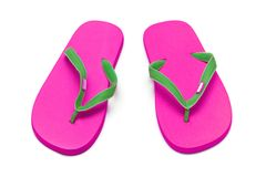 Pink flip flops Royalty Free Stock Images