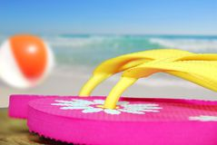 Pink Flip flops by Ocean Stock Images