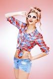 Pink flirt Royalty Free Stock Image