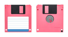 Pink floppy disk Stock Photography