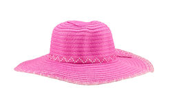 Pink floppy hat isolated on white background Royalty Free Stock Photo