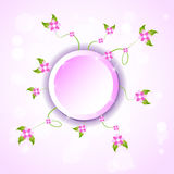 Pink floral. Nice pink floral presentation business Royalty Free Stock Photography
