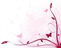 Pink Floral. Design with grunge elements royalty free illustration