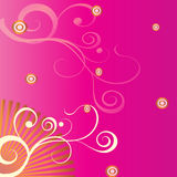 Pink floral. A floral design in a pink background Royalty Free Stock Images
