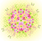 Pink floral abstract background Royalty Free Stock Photography