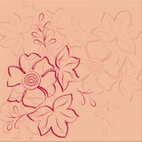 Pink floral abstract background Stock Images