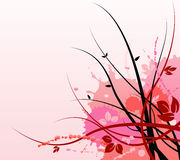 Pink Floral Art Background Stock Images
