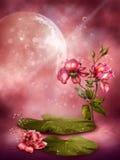 Pink floral background 1 royalty free illustration