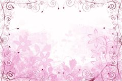 Pink floral background Royalty Free Stock Images