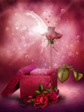 Pink floral background 2 Royalty Free Stock Image