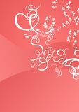 Pink floral background. Illustration of pink floral background Royalty Free Stock Photography