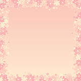 Pink Floral Background. For Your Text or Design Stock Photo
