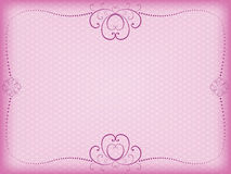 Pink floral background. For Day of Valentine vector illustration Royalty Free Stock Photography