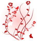 Pink floral background. stock illustration