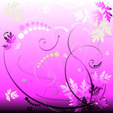 Pink Floral Background. An illustrated background with an abstract floral design in pink & gray colors vector illustration