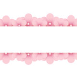 Pink floral background with place for text Stock Photography