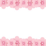 Pink floral background with place for text Stock Image