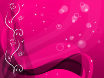 Pink Floral Background Shows Flower Pattern And Bubbles Royalty Free Stock Images