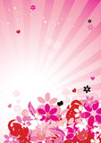 Pink floral background for your design Stock Photos