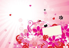 Pink floral background for your design Royalty Free Stock Photos