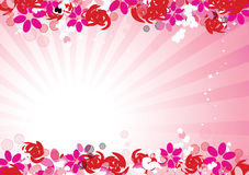 Pink floral background for your design Stock Image