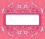 Pink floral banner Stock Photography