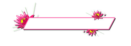 Pink Floral Banner Stock Images