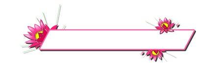 Pink Floral Banner. Website display stock illustration