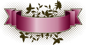 Pink Floral Banner Royalty Free Stock Images