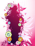 Pink floral banner. With place for your text Royalty Free Stock Photography