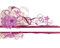 Pink floral border Stock Images