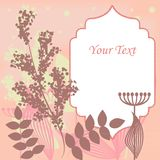 Pink floral border Stock Photo