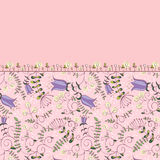 Pink floral border Stock Photos