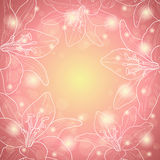 Pink floral border Royalty Free Stock Photos
