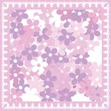 Pink floral card Royalty Free Stock Images