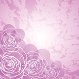 Pink floral card. Stock Image