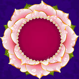 Pink Floral Circle Frame stock illustration